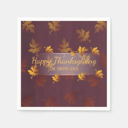 Fancy fall leaves| Thanksgiving dinner napkins Disposable Serviettes