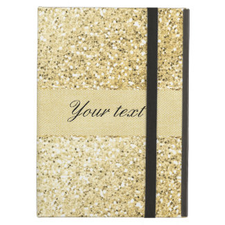 Fancy Faux Gold Glitter Personalized Cover For iPad Air