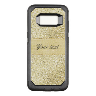 Fancy Faux Gold Glitter Personalized OtterBox Commuter Samsung Galaxy S8 Case