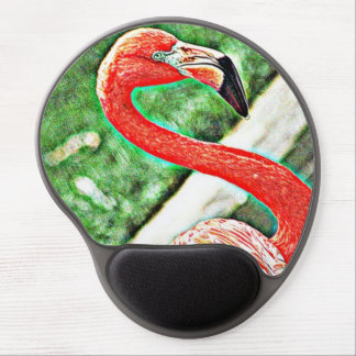 Fancy Flamingo Gel Mouse Pad