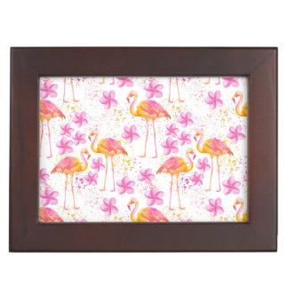 Fancy Flamingo Keepsake Box