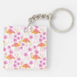 Fancy Flamingo Key Ring