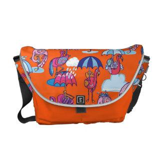Fancy Flamingoes Messenger Bag for Kids