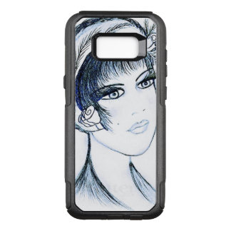 Fancy Flapper in Blues and Black OtterBox Commuter Samsung Galaxy S8+ Case
