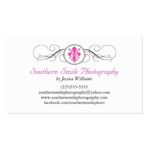 Fancy Fleur de Lis Business Cards