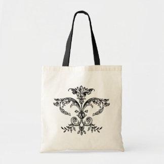 Fancy Fleurish BW Tote Bag