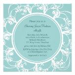 Fancy Floral Bridal Shower Invitation (turquoise)