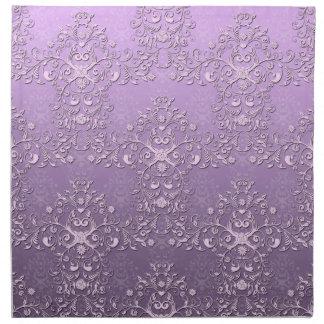 Fancy Floral Lavender Purple Damask Pattern Napkin