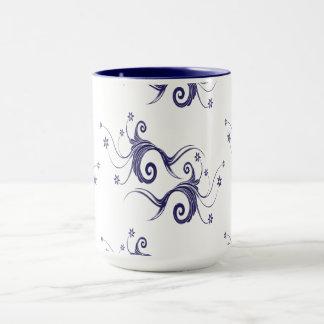 Fancy Floral Pattern Mug