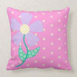 Fancy Floral Pillow - Pink