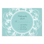 Fancy Floral RSVP (turquoise) Custom Announcement