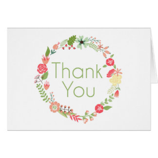 Fancy Floral Thank You Card