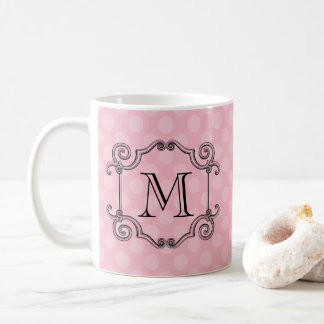 Fancy Flourish Monogram Choose Color Coffee Mug