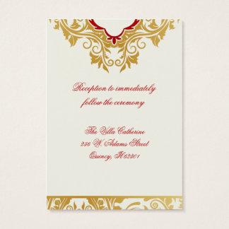 Fancy Flourishes Golden Wedding Reception Cards