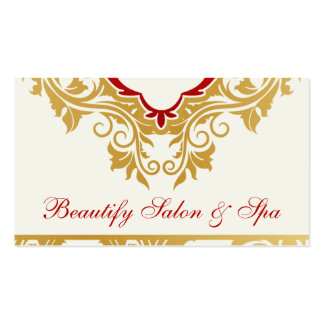 Fancy flourishes Salon Appointment Business Cards