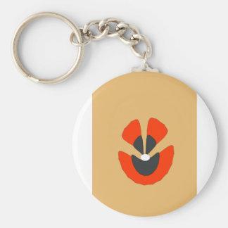 fancy flower key ring