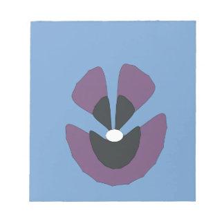 fancy flower notepad