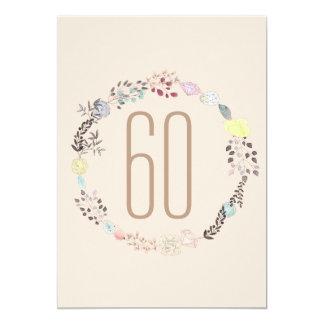 Fancy Flowers and Diamonds 60th Birthday Card