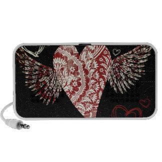 Fancy Fluer Heart With Wings Speaker