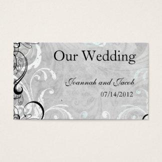 Fancy Fourishes Wedding Website Card