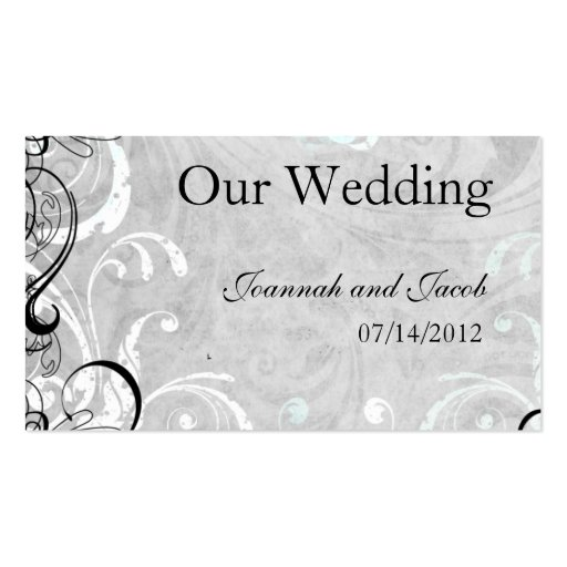 Fancy Fourishes Wedding Website Card Business Card Templates