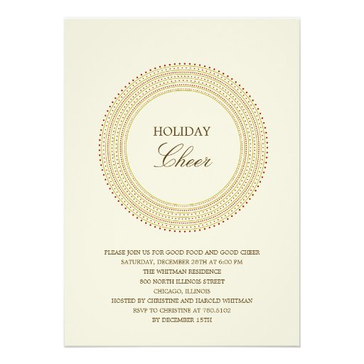 Fancy Frame Holiday Party Invitations Personalized Announcement