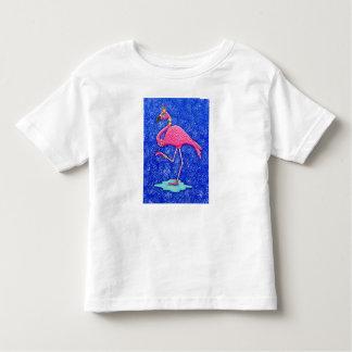 Fancy Francie Flamingo, Queen of the pink birds. Toddler T-Shirt