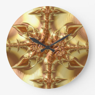 Fancy & Fun Fractals With Cool Mandala Patterns Large Clock