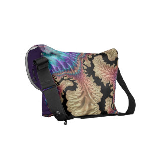 Fancy & Fun Fractals With Cool Mandala Patterns Messenger Bag