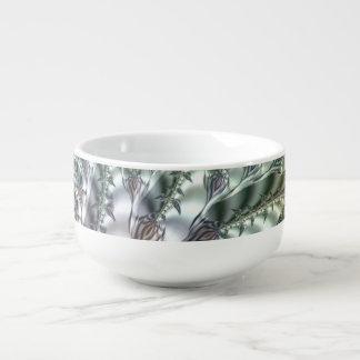 Fancy & Fun Fractals With Cool Mandala Patterns Soup Mug