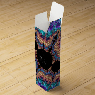 Fancy & Fun Fractals With Cool Mandala Patterns Wine Gift Box