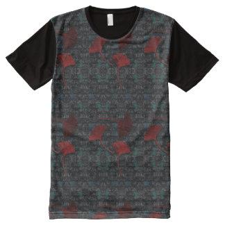 Fancy Ginkgo Grunge Graphic T-Shirt All-Over Print T-Shirt