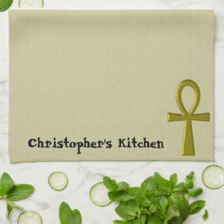 Fancy Gold Ankh Kitchen Towels