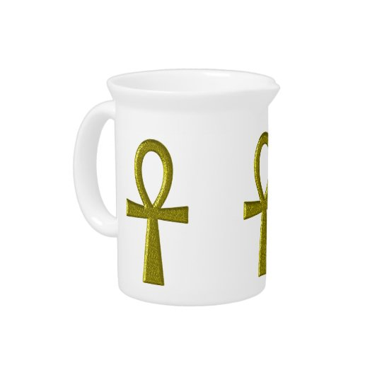 Fancy Gold Ankh Pitcher