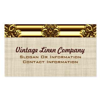Fancy Gold Border Vintage Business Cards