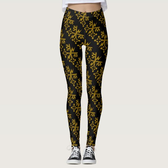 Fancy Gold Key Fitness Leggings