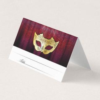 Fancy Gold Masquerade Escort Cards