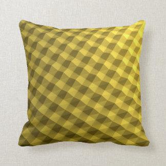 Fancy gold patterned pillow