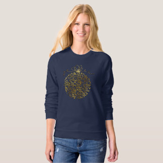 Fancy Golden Merry Christmas Ball Ornament Sweatshirt