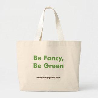 Fancy Green Beach Bag