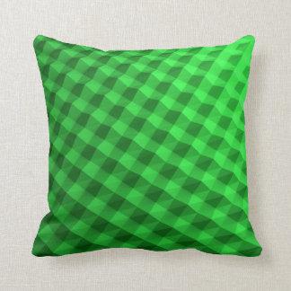 Fancy green patterned pillow