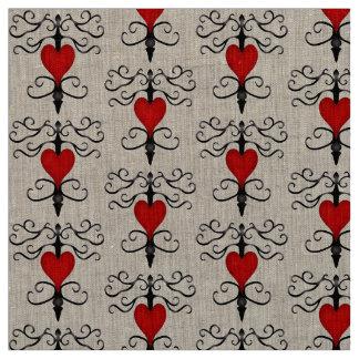 Fancy hearts fabric