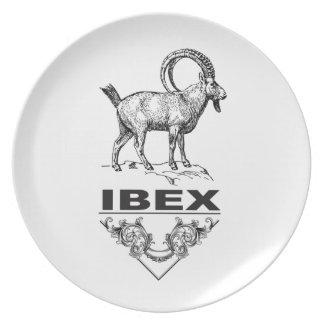 Fancy Ibex animal Plate