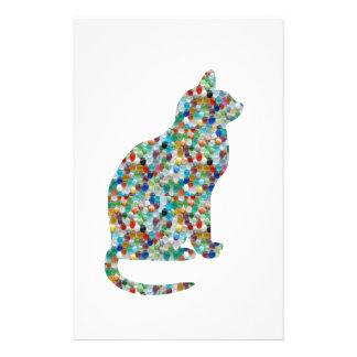 FANCY Jewel n Stones Studded  CAT -  Pet Animal Stationery