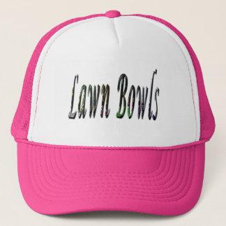 Fancy Lawn Bowls Logo, Trucker Hat