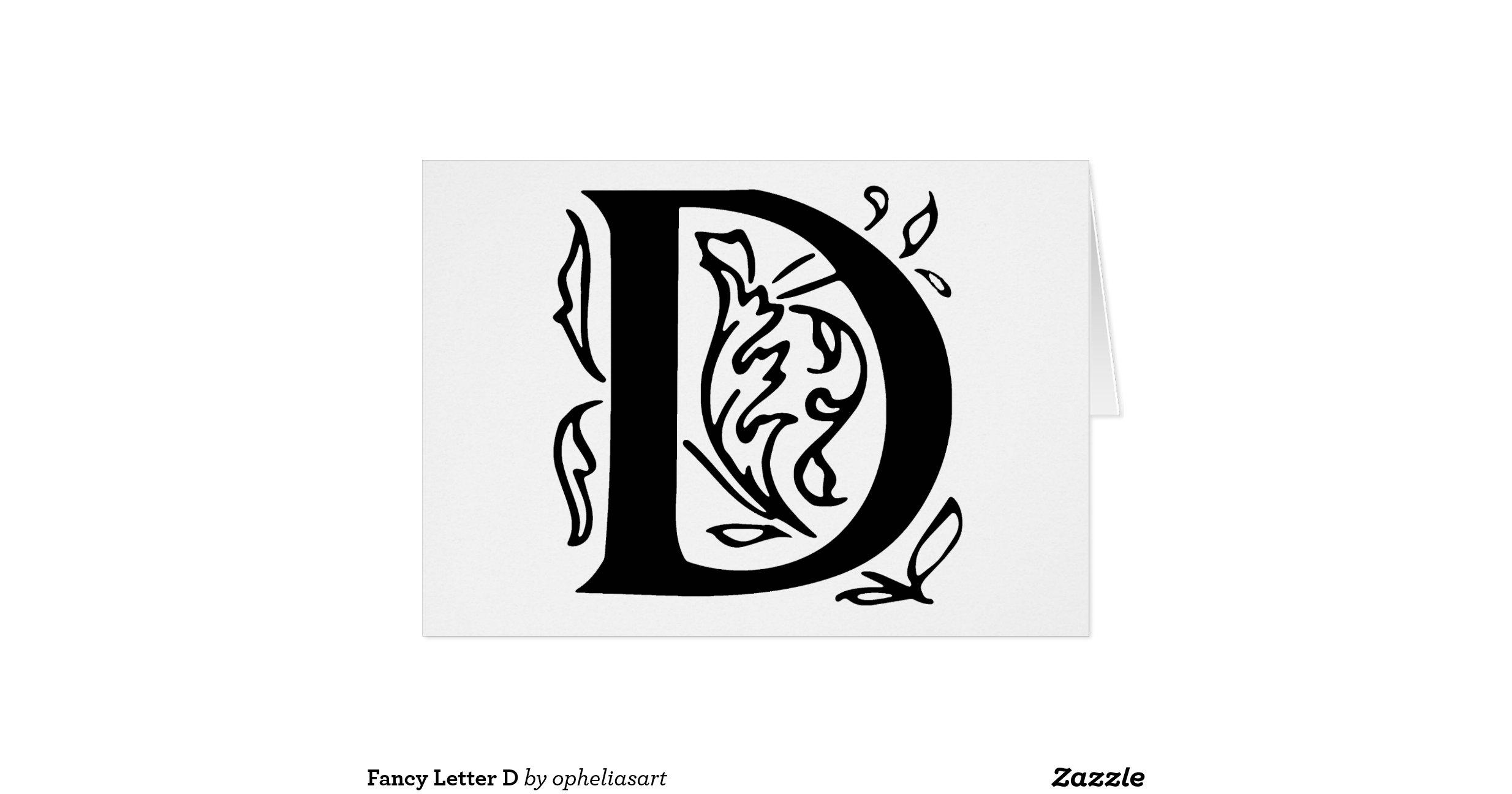Fancy Letter D Greeting Card