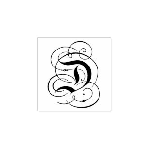 Fancy letter d gifts on zazzle au fancy letter d rubber stamp altavistaventures Image collections