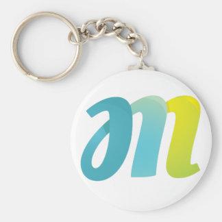 Fancy Letter M Key Ring