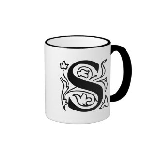 Fancy Letter S Coffee Mugs