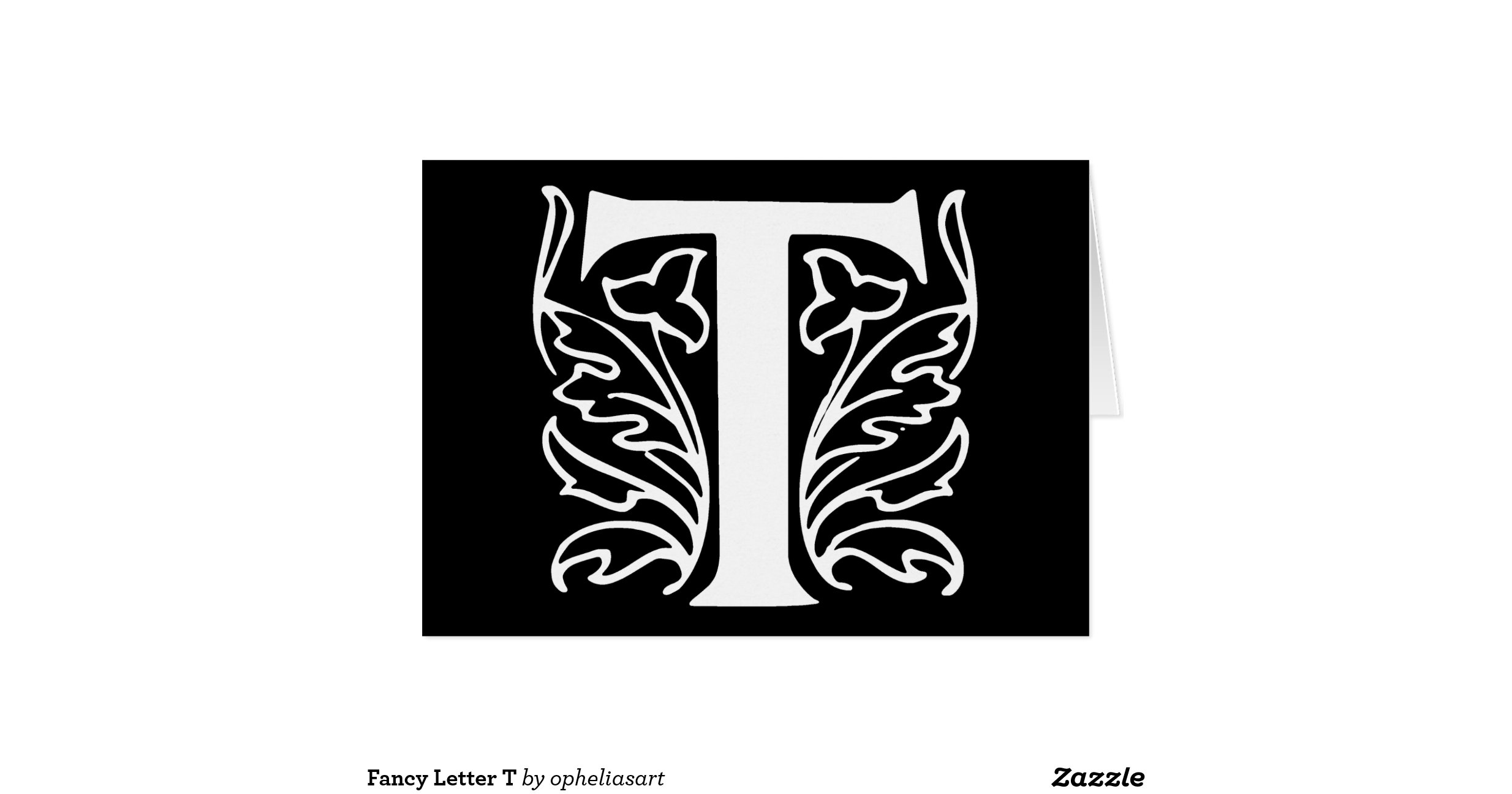 Fancy Letter T Greeting Card